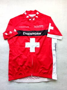 Cycling Jersey size M 50cm Crespo Swiss Duathlon Team Replica Shirt