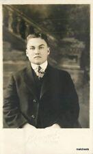 Dalles Oregon C-1910  Ledgerwood Photo Studio Serious Young man RPPC 11574