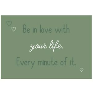Ib Laursen Metallschild Be in love with your life