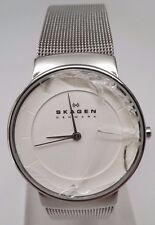 SKAGEN WATCH for Women White Dial/Silver Mesh Bracelet SKW2075