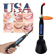 Dental Wireless Cordless LED Curing Light Lamp 10W 2000mw Solidify Black CE【USA】