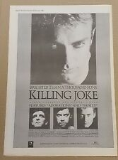 Killing Joke Brighter than thousand suns press advert Full page 30 x 41cm poster