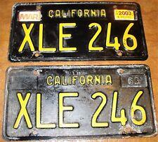 1963 California Plates 64 1965 66 67 1968 69 Dodge Chrysler Chevrolet Olds MoPaR