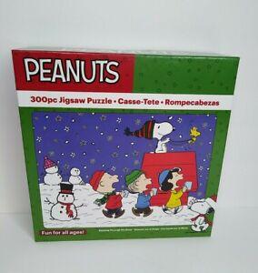 "Peanuts Dashing Through The Snow Jigsaw Puzzle 300 Pc 24""X18"" Christmas New"