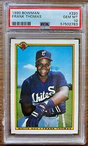 Frank Thomas 1990 Bowman Rookie Card PSA 10 Gem Mint New Label - White Sox - HOF