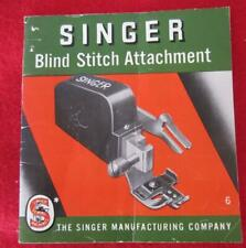 New listing Vintage Singer Blind Stitch Attachment 86649 Instruction Manual Only