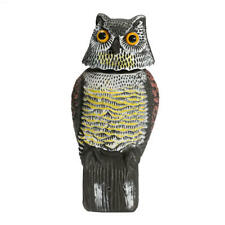 Artificial Resin Owl with Rotating Head Outdoor Decoy Garden Landscape Ornament