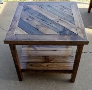 Square Dining Table Reclaimed Wood Rustic Farmhouse Industrial