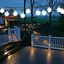 EasyDecor Solar Christmas String Lights 30 LED Ball 21ft Cool White 8Mode Water