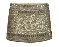 All Saints £215 Devo Gold Skirt Heavily Embellished UK 6 / USA 2 Viper Python