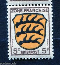 ALLEMAGNE, OCCUPATION FRANCAISE, 1945 timbre 3, ARMOIRIES WURTEMBERG neuf**, MNH