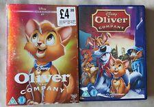DISNEY DVD - Oliver and Company + O-Ring Slip Case Sleeve - Classics 27