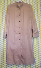 Cyclone Utex Womens Size 12 Light Brown Full Length Button Down Trench Coat