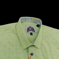 Bogosse Shirt BG Gary 92 Size 4 Large Long Sleeve Green Button Front Cotton