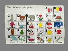 Vinyl Placemat - 6 Pack - Alphabet