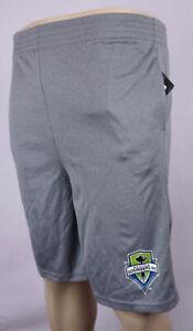 Seattle Sounders FC Shorts Boys Medium 10 - 12 Gray Basketball Shorts New ST160