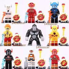 9pcs Dc Comics Gorilla Grodd The Flash MiniFigures Custom Lego Marvel