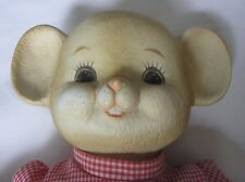 Price Products Porcelain Stuffed Plush Mouse Animal Doll Gingham Dress Taiwan