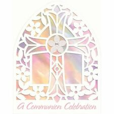 Amscan 8 PK Girls Glitter Diamante Holy Communion Party Invitations & Envelopes