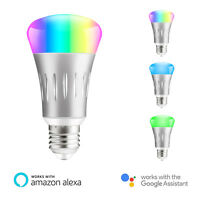 E27 Dimmable Wifi Smart Bulb RGB LED Light Bulbs For Amazon Alexa Google Home