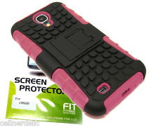 Samsung Galaxy S4 case cover with stand & Screen Protector included PINK