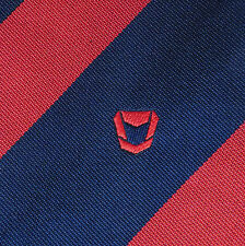MULLARD Corporate Tie Radio a valvole con logo aziendale Kipper Blu Navy Vintage Rosso