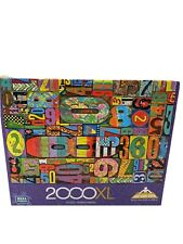 "Mega Puzzles 2000XL Vintage Numbers By Thelma Winter Jigsaw Puzzle 26.75"" X 39"""