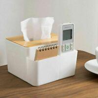 Tissue Box Kosmetiktücher Taschentuchbox Desktop mit Holzdeckel