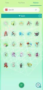 Pokemon Home Complete set of Gen 1-7 Mythical (24 Pokemon)