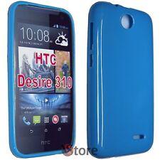 Cover Custodia Per HTC Desire 310 AZZURRO GEL TPU silicone