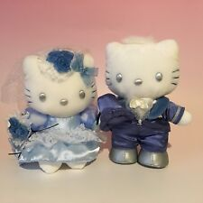 HELLO KITTY & DEAR DANIEL x Blue Dress Wedding Plush Dolls SANRIO