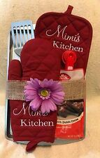 Personalized Potholder and Oven Mitt Gift Set.