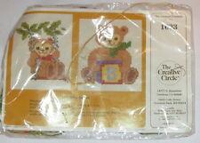Creative Circle Bear Babies 1633 Cross Stitch Kit Waste Canvas Sealed Vintage