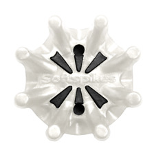 Softspikes Pulsar Pins White/Black Golf Cleats