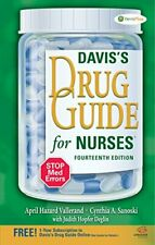 Davis's Drug Guide for Nurses by Vallerand, April Hazard Book The Fast Free
