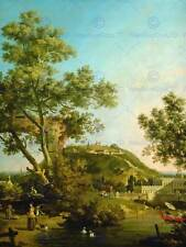 Canaletto italienne paysage anglais capriccio palace art painting affiche BB5051B