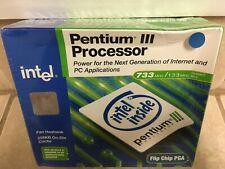 Vintage Intel Pentium III 733 MHz (BX80526F733256E) Processor - Factory Sealed!