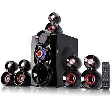 beFree BFS-600 Bluetooth 5.1 Channel Surround Sound Speaker System Red/Blac