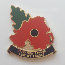 NEW - Operation Op BANNER - Northern Ireland shaped Poppy badge (Gen.2)