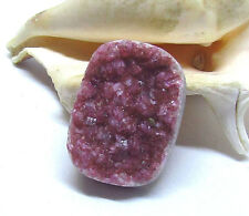 Rosa Naturale Africano Cobalto Cobaltian Calcite Drusa Crystal Cab Cabochon 30mm