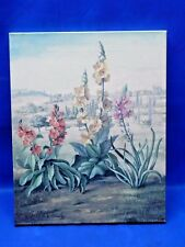 Fabrice de Villeneuve Limited Edition 60/995 Giclee Canvas Floral Print Flowers