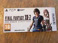Final Fantasy 13-2 - PS3 - Steelbook Sleeve - Brand new
