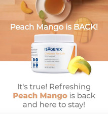 Isagenix Cleanse for Life Peach Mango Canister Natural Detox Cellular health