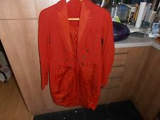 Vtg 1929 Huntsman Bespoke Red Hunt Tailcoat C/w Royal Dragoon Brass Buttons