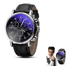 Luxury Fashion Dress Watch Mens Watch Analog Quartz Watch Crocodile Faux Leather