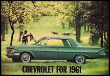 1961 Chevrolet Brochure, Impala Bel Air Biscayne Corvette Wagons, 12 pg Chevy GM