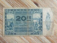 More details for luxembourg 20 francs 1929 banknote