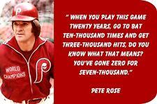 "Pete Rose ""3000 hits....."" (4"" X 6"") Sublimated Aluminum"