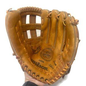 🔴 Vintage Wilson A9810 Softball Glove RHT Leather Grip Tite Pocket Snap Action