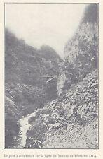 G0928 Chine - Le pont à arbalétriers sur la ligne du Yunnan - 1923 old print